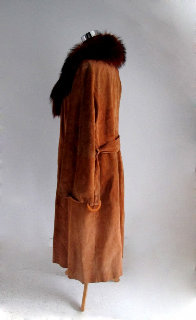 grandmother vintage coat side view