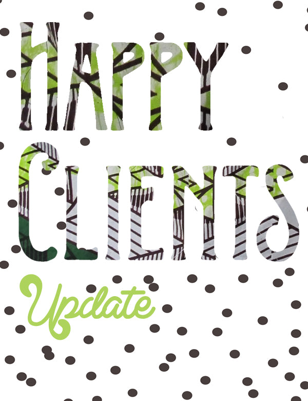 happy clients sign