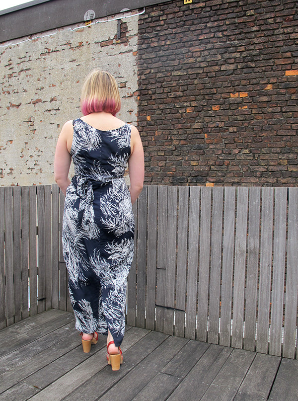 named kielo wrap dress viscose back view