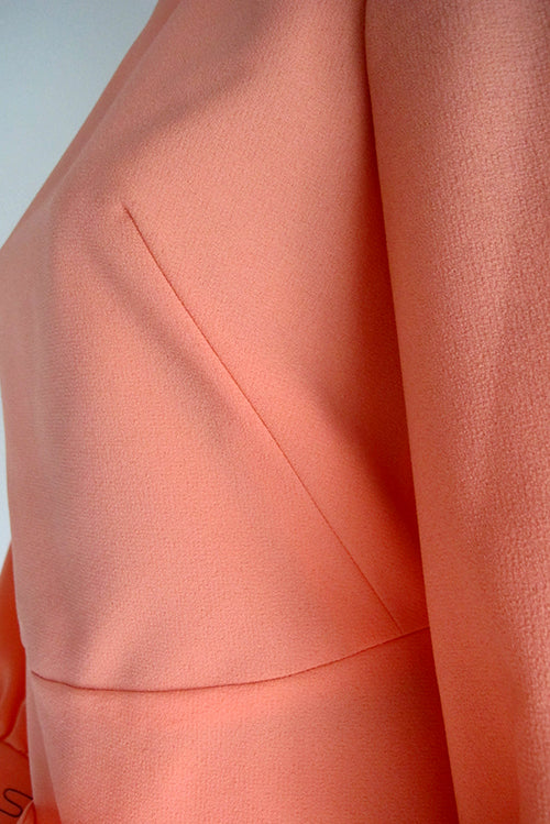 seventies vintage coral shorts and tunik combo bust dart