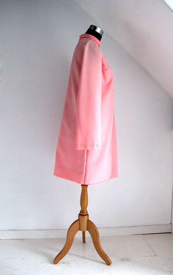 seventies vintage pink dress side view