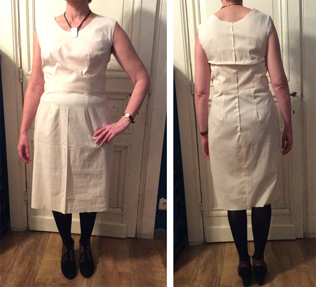 toile dress fitting 3