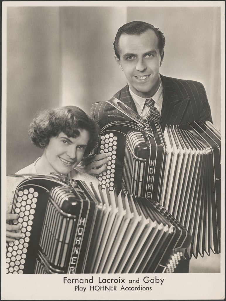 Fernand Lacroix and Gaby play Hohner Accordians in the J.C. Williamson production of The Piddington Show