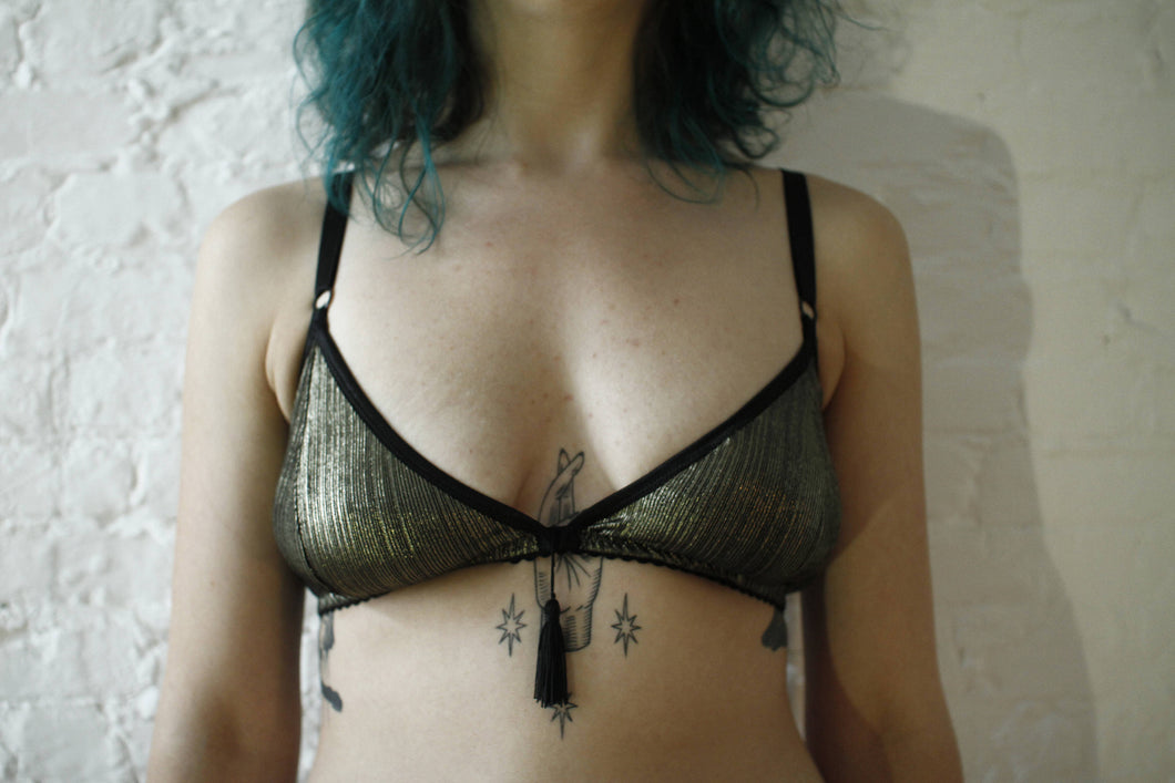 Midnight Hour triangle bralette