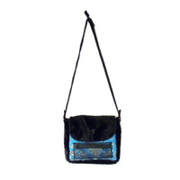 Medium Size Bag - Tibetan Silk and Faux Fur with Detatchable Strap