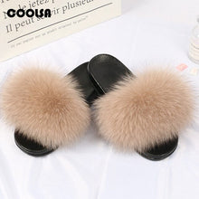 Load image into Gallery viewer, Kids Fur Slippers Summer time cuteness winter coziness