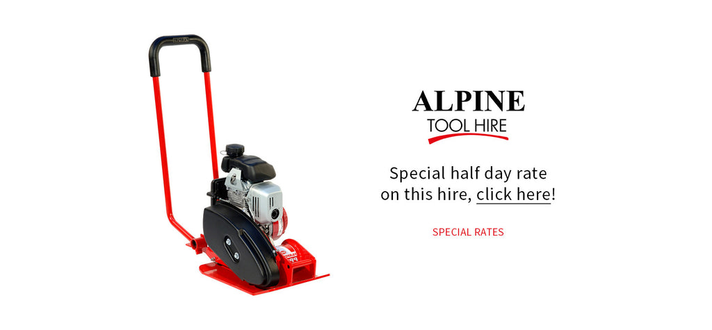 Vibrating Plate - Half day rate - Alpine Tool Hire - Special Offer