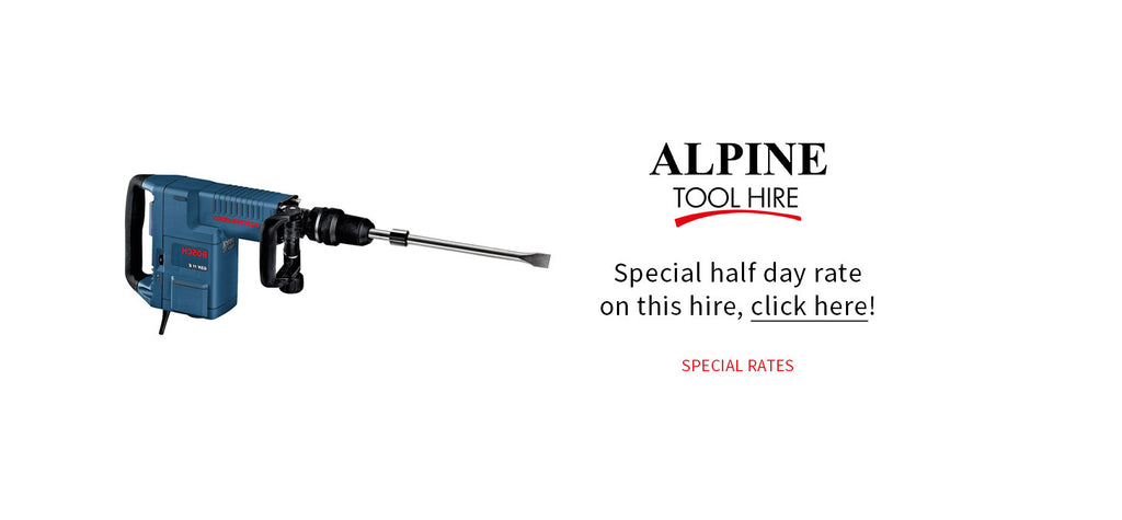 Medium Breaker - Half day rate - Alpine Tool Hire - Special Offer