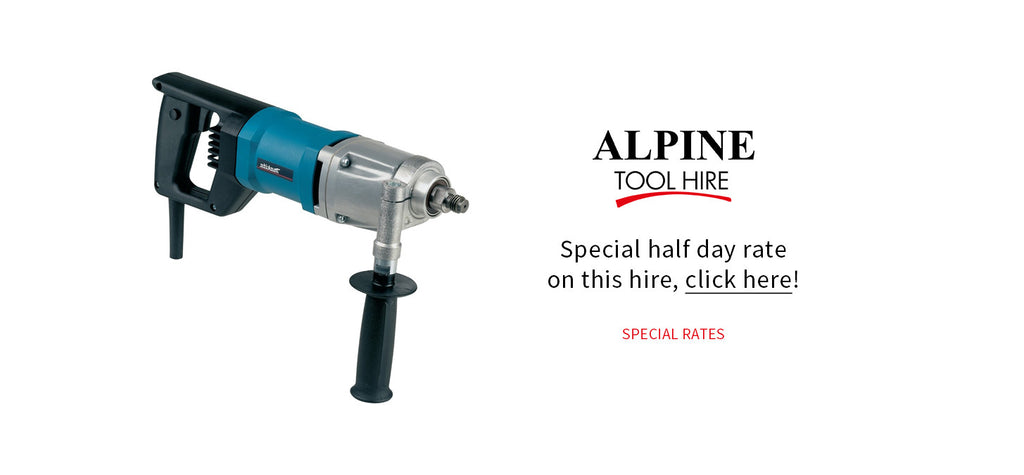 Diamond Core Drill - Half day rate - Alpine Tool Hire - Special Offer