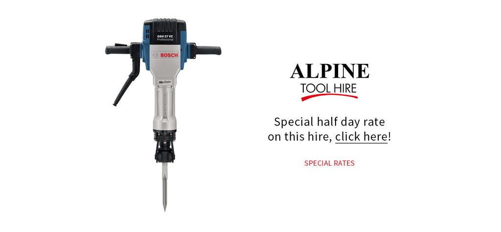 Heavy Breaker - Half day rate - Alpine Tool Hire - Special Offer