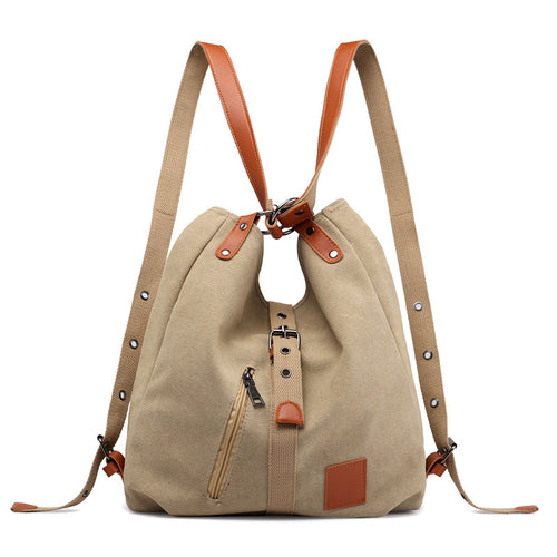 Canvas Women Shoulder Bags High Quality Multifunction Women Back Pack For Students School Travel Bags Large Capacity - TurtlePanda