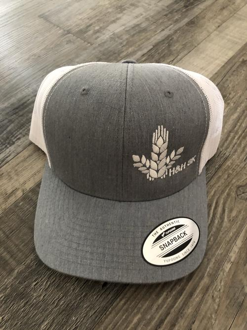 H&H SK Curved Wheat Sheaf Trio Snapback Hat