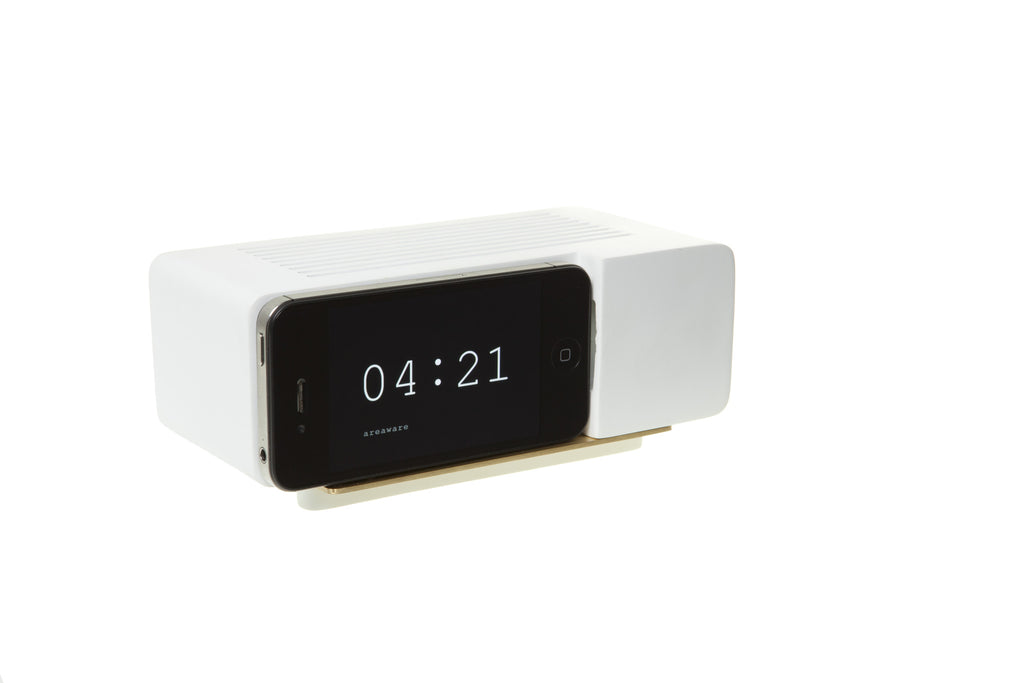 Alarm Dock For Iphone 5 in White