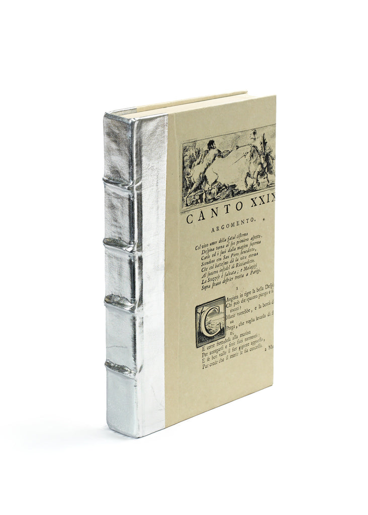 Single Metallic Silver Book