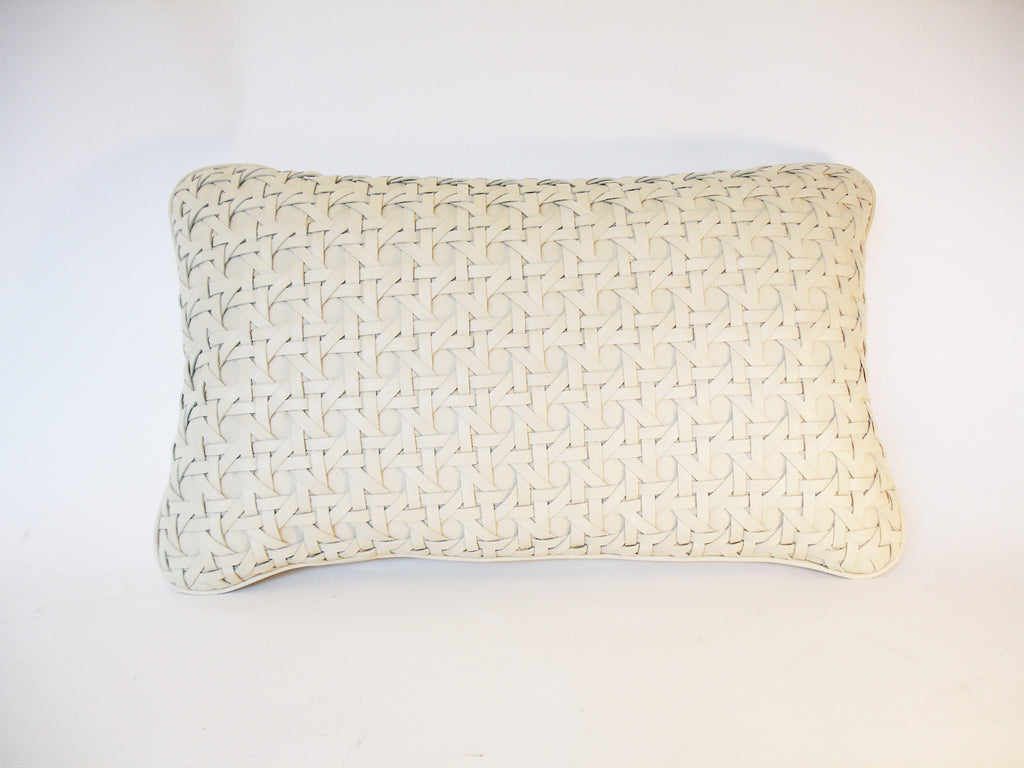 Ivory Leather Cushion
