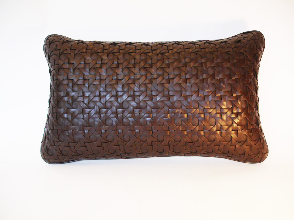 Chocolate Leather Cushion
