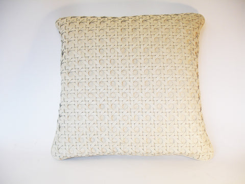 Ivory Large Leather Cushion