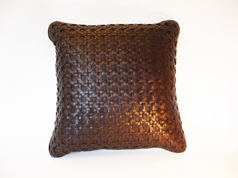 Chocolate Large Leaher Cushion
