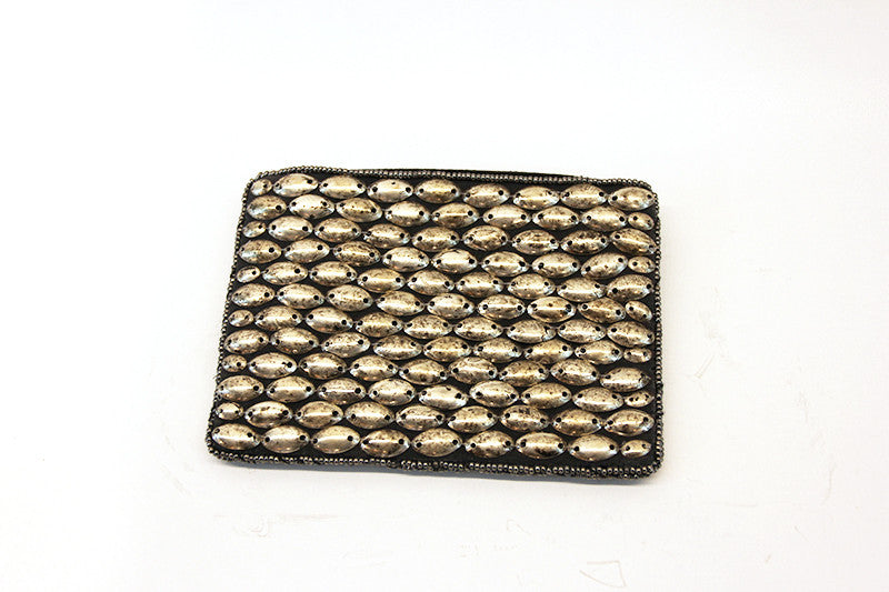 Bella Oval Bead Coin Purse