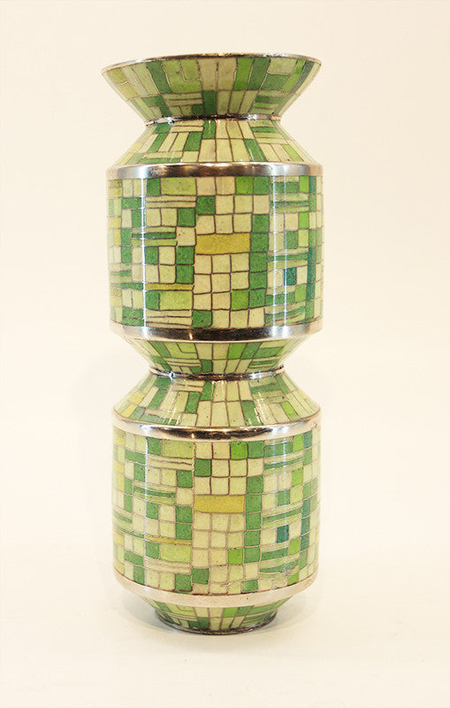 Green Cloisonné Vase in Small