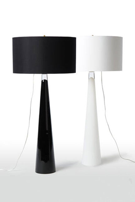 Glass Lamp Black