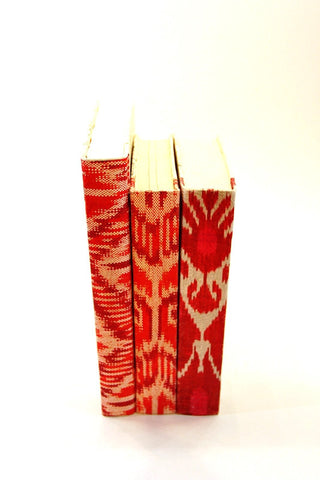 Ikat Book Pattern in Red