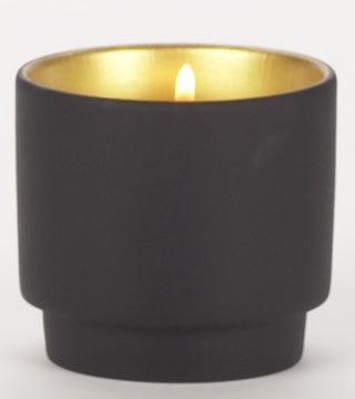 Halo Luminary Holder Black and Gold