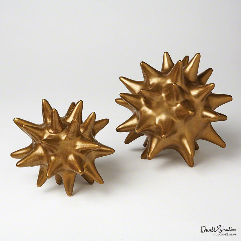 Large Urchin in Antique Gold