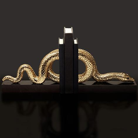 Snake Gold Bookend Set