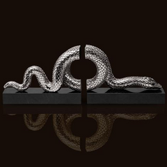 Snake Platinum Bookend Set