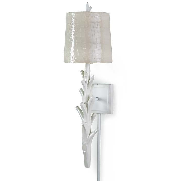 White Coral Sconce