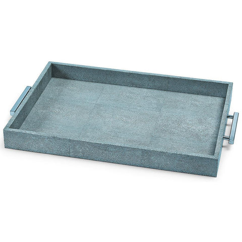 Turquoise Shagreen Rectangle Tray