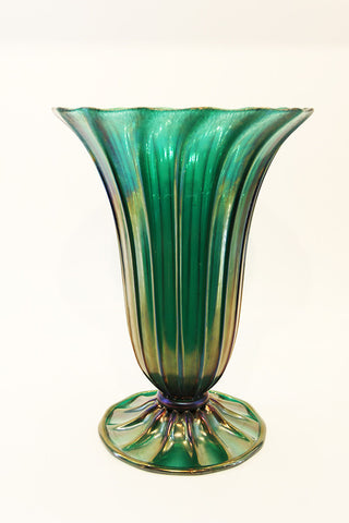 Archimede Seguso Fluted Top Vase