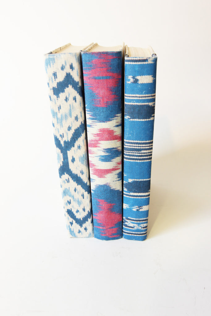 Ikat Book Pattern in Blue