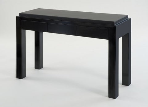 Black Three Drawer Console