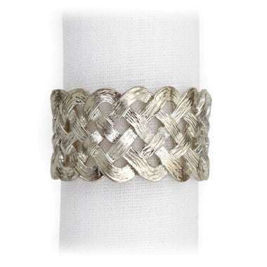 Napkin Ring Braid Platinum