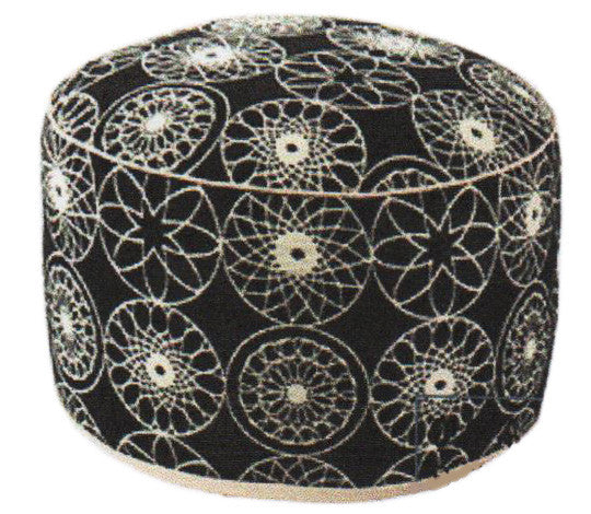 Black & White Pouffe