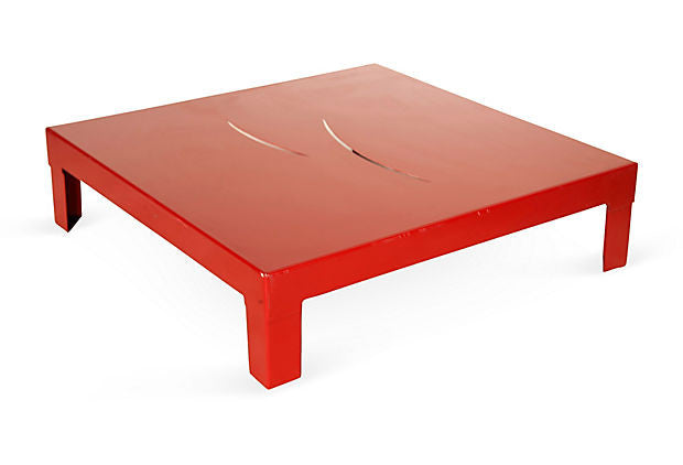 Red Steel Coffee table
