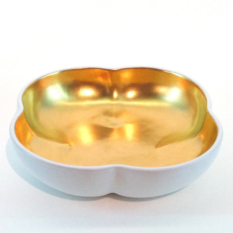 Richard Mishaan Large Bowl in White and Gold