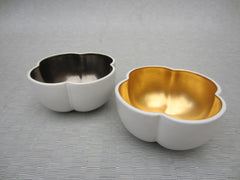 Richard Mishaan Medium Bowl in White and Gold