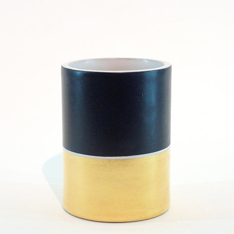 Richard Mishaan Duo Vase in Black and Gold