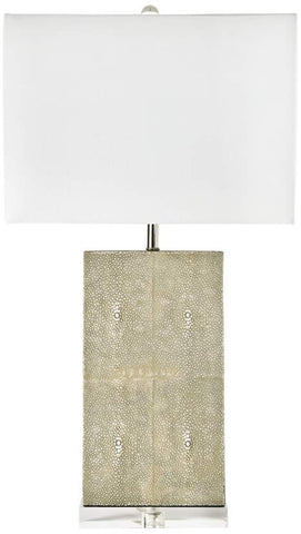 Ivory Grey Shagreen Lamp