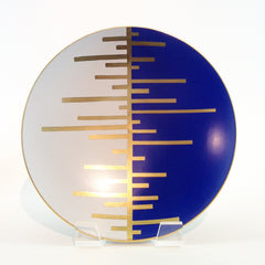 Richard Mishaan Trio Deco Charger in Blue White and Gold