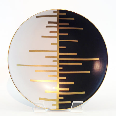 Richard Mishaan Trio Deco Charger Black White and Gold