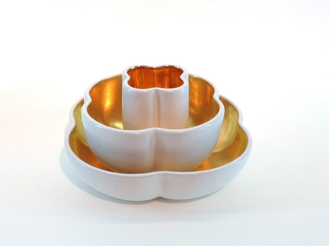 Richard Mishaan Small Bowl in White and Gold