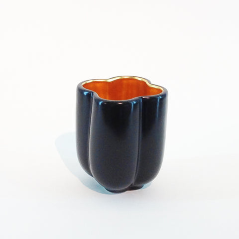 Richard Mishaan Small Bowl in Black and Gold