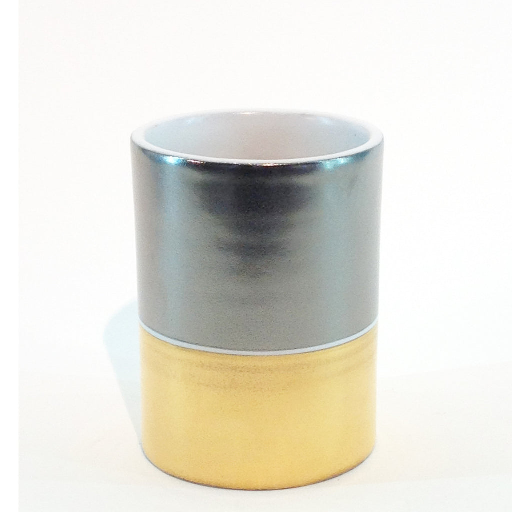 Richard Mishaan Duo Vase in Gold and Platinum