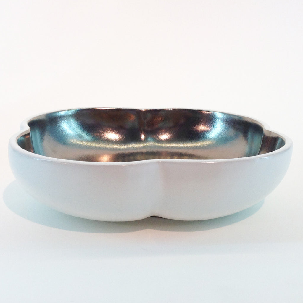Richard Mishaan Large Bowl in White and Platinum