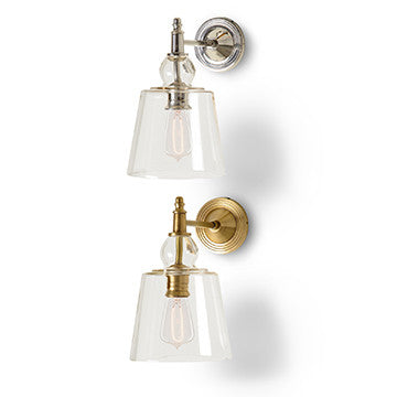 Sconce with Glass Shade