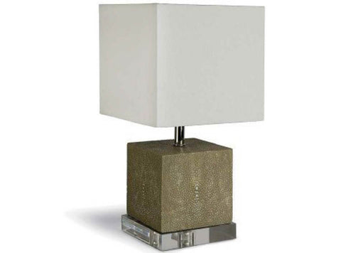 Ivory Grey Mini Shagreen Lamp